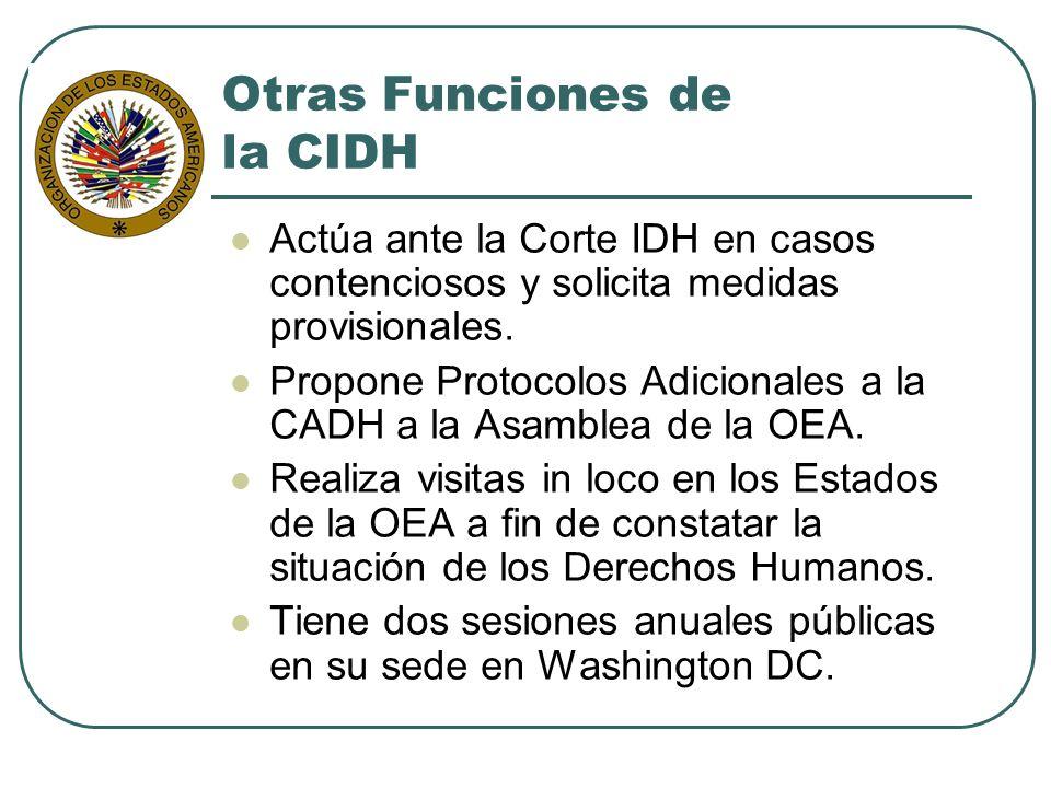Otras Funciones de la CIDH
