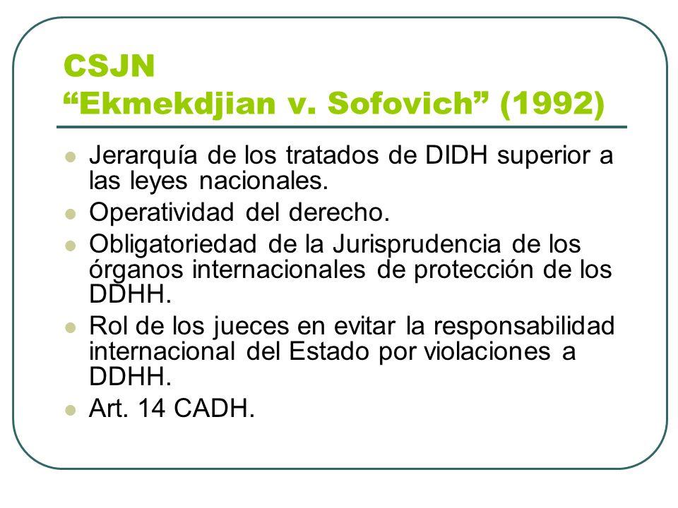 CSJN Ekmekdjian v. Sofovich (1992)