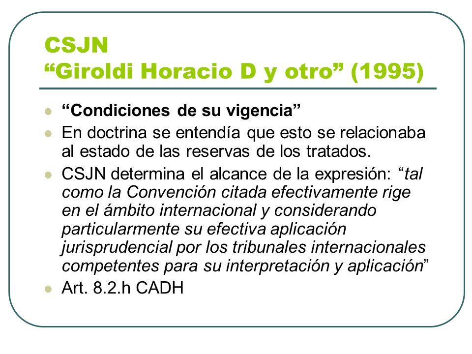 CSJN Giroldi Horacio D y otro (1995)