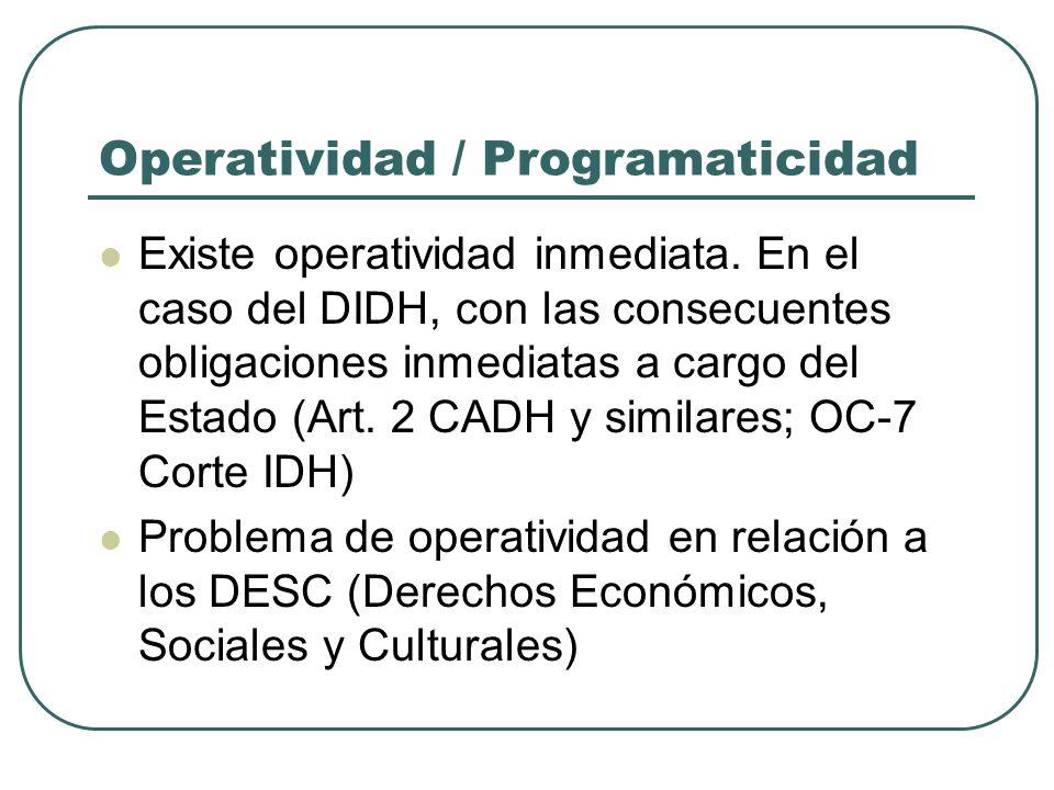 Operatividad / Programaticidad