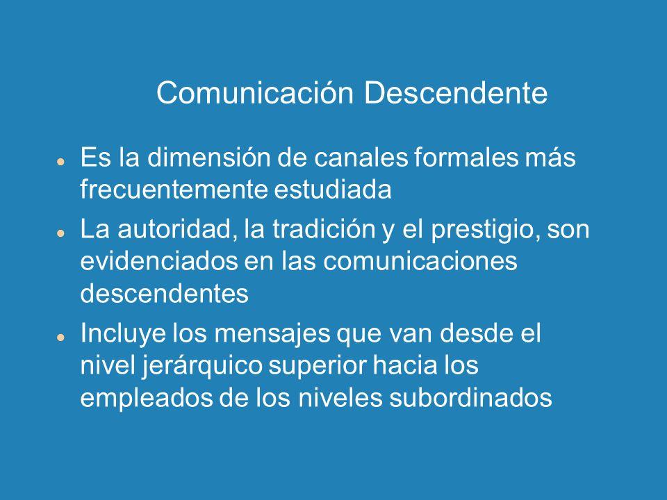 Comunicación Descendente