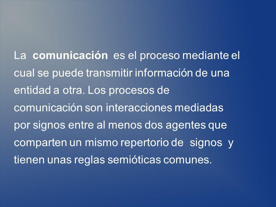 La comunicación es el proceso mediante el