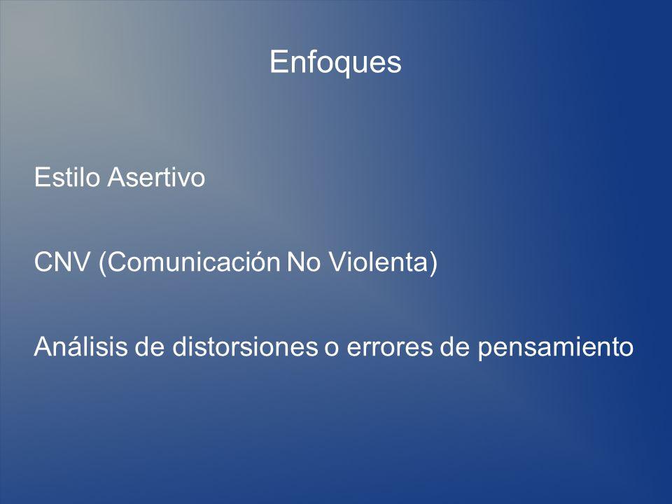 Enfoques Estilo Asertivo CNV (Comunicación No Violenta)