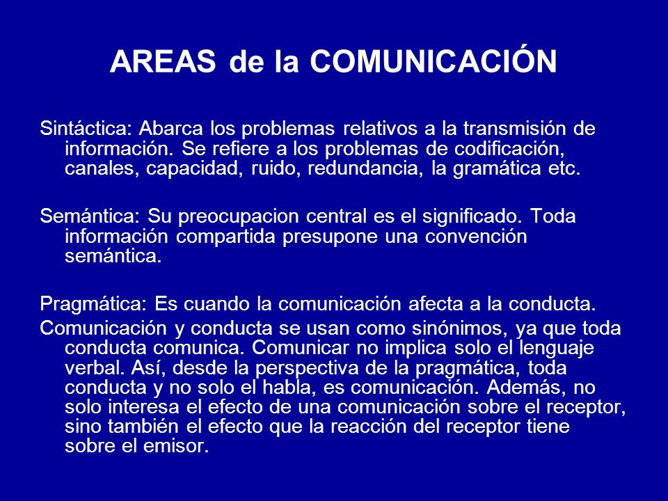 AREAS de la COMUNICACIÓN