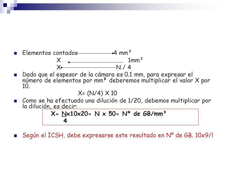 Elementos contados 4 mm²