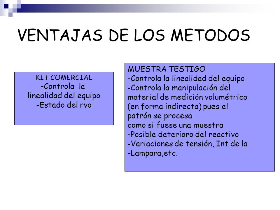 VENTAJAS DE LOS METODOS