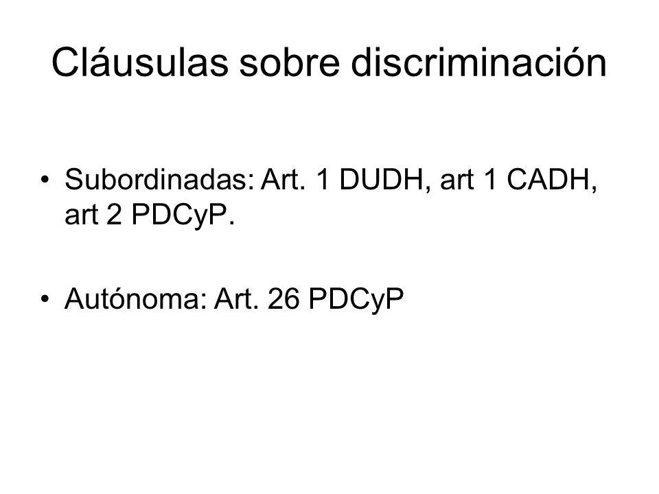 Cláusulas sobre discriminación