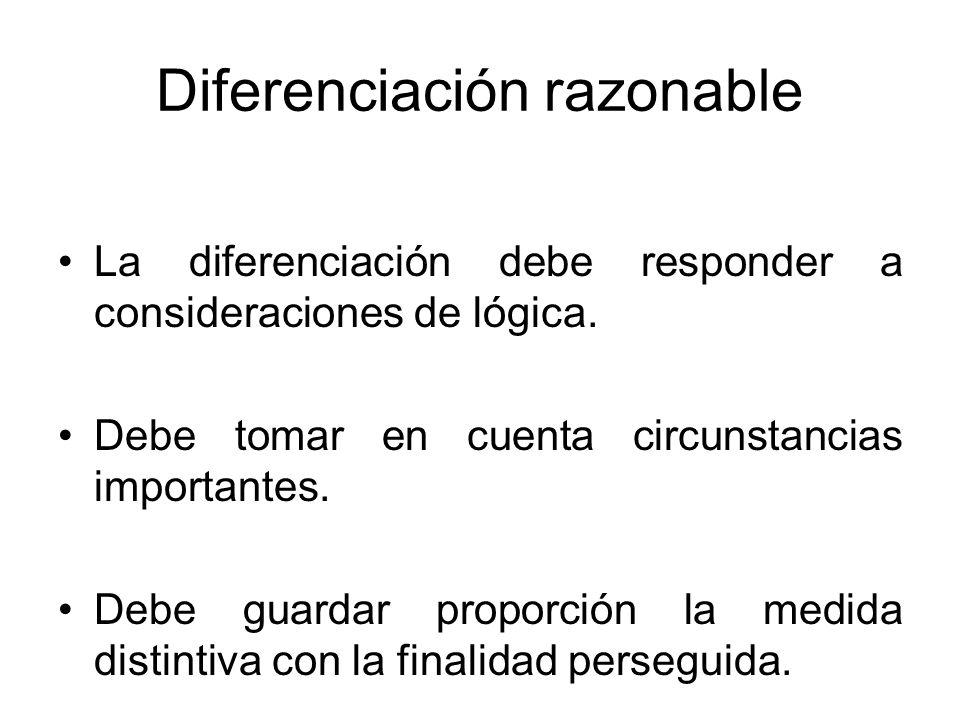 Diferenciación razonable