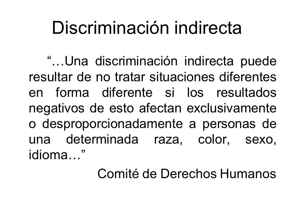 Discriminación indirecta