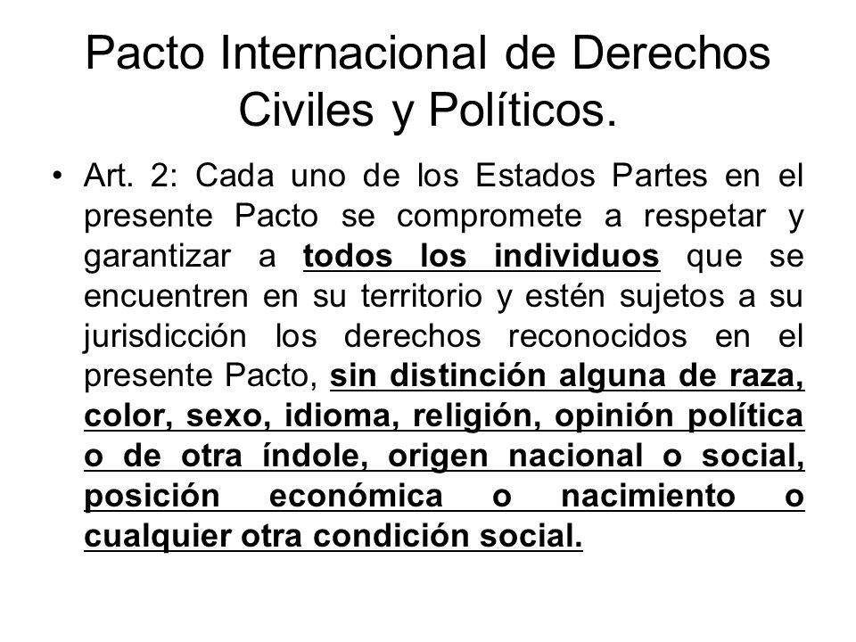 Pacto Internacional de Derechos Civiles y Políticos.