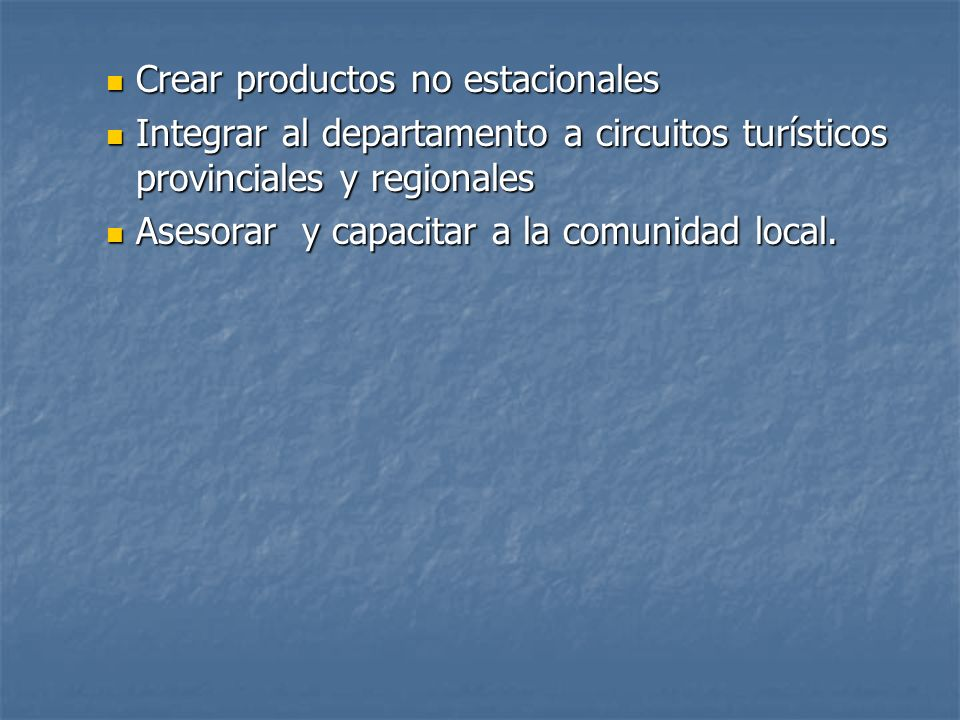 Crear productos no estacionales