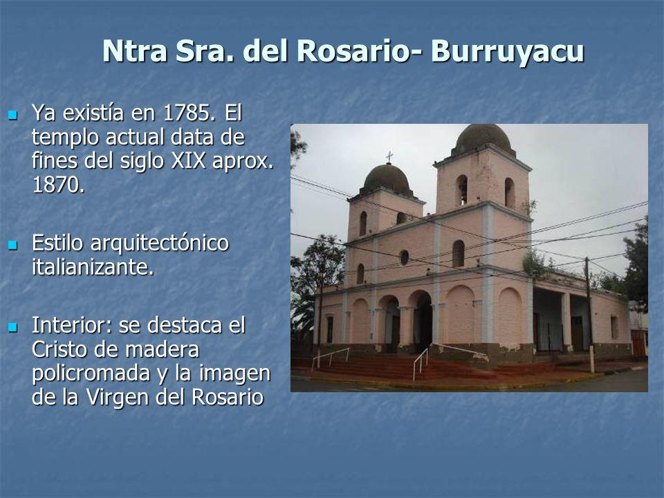 Ntra Sra. del Rosario- Burruyacu