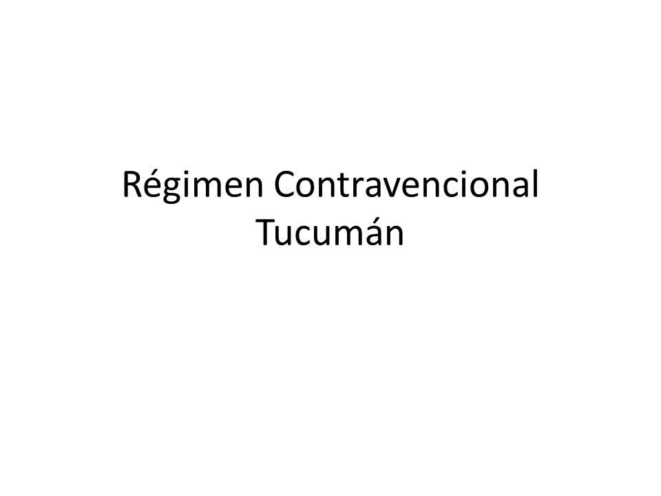 Régimen Contravencional Tucumán