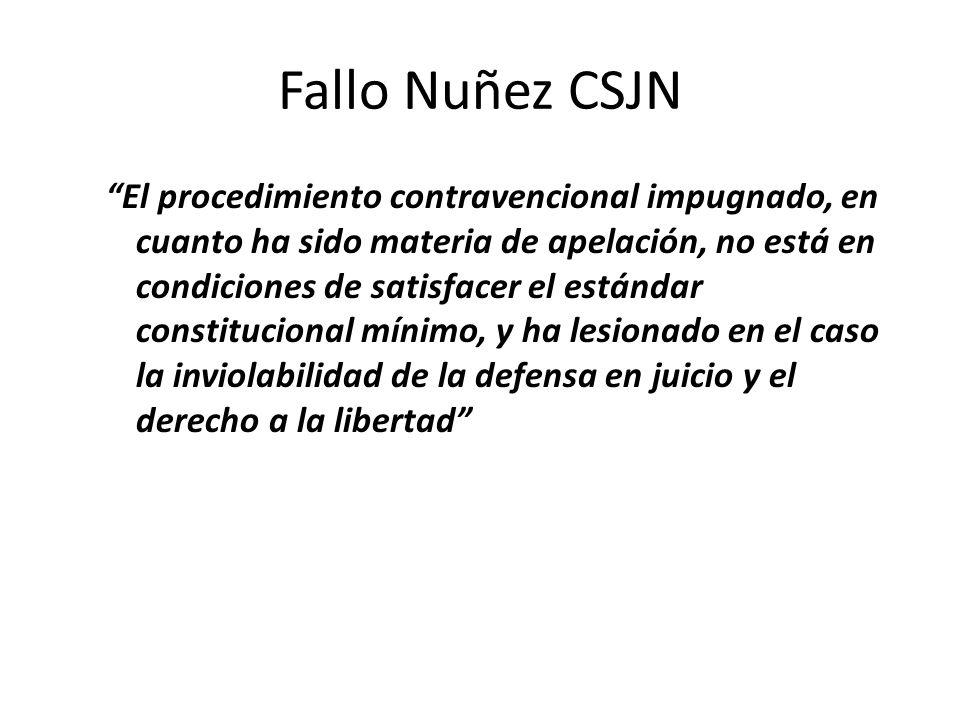 Fallo Nuñez CSJN