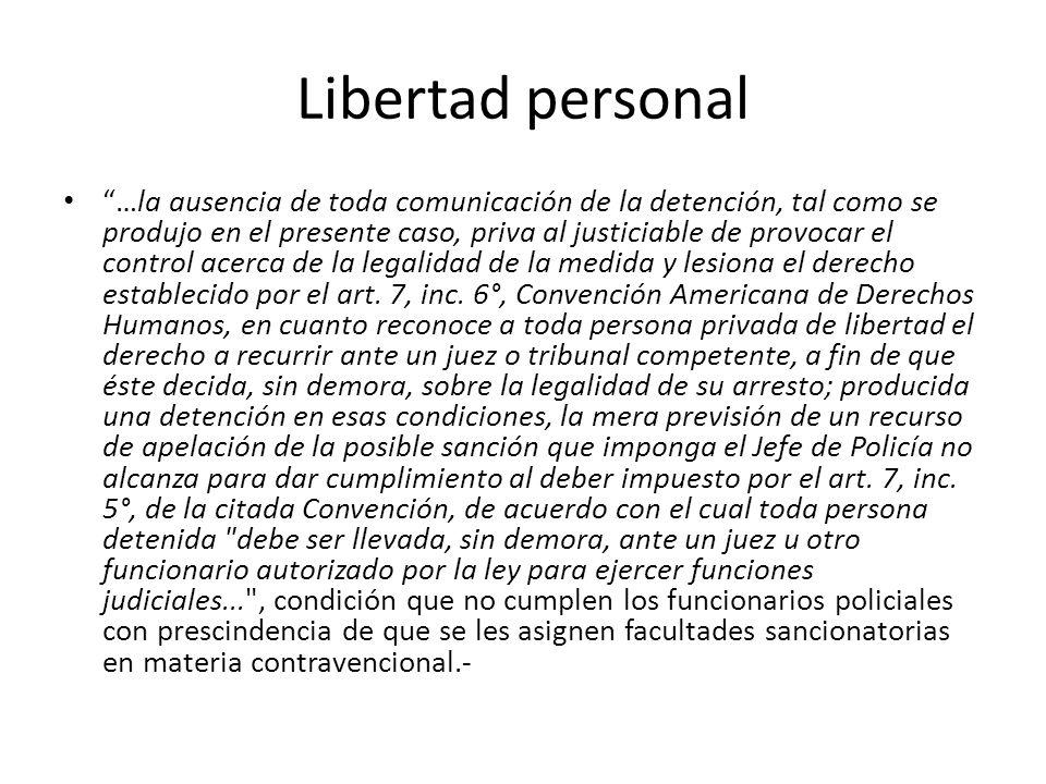 Libertad personal