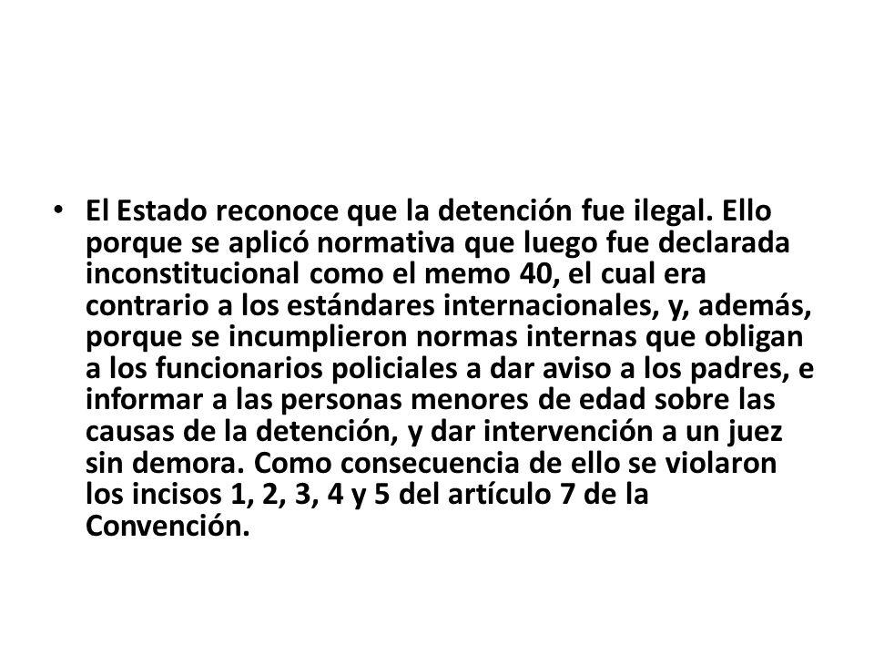 El Estado reconoce que la detención fue ilegal