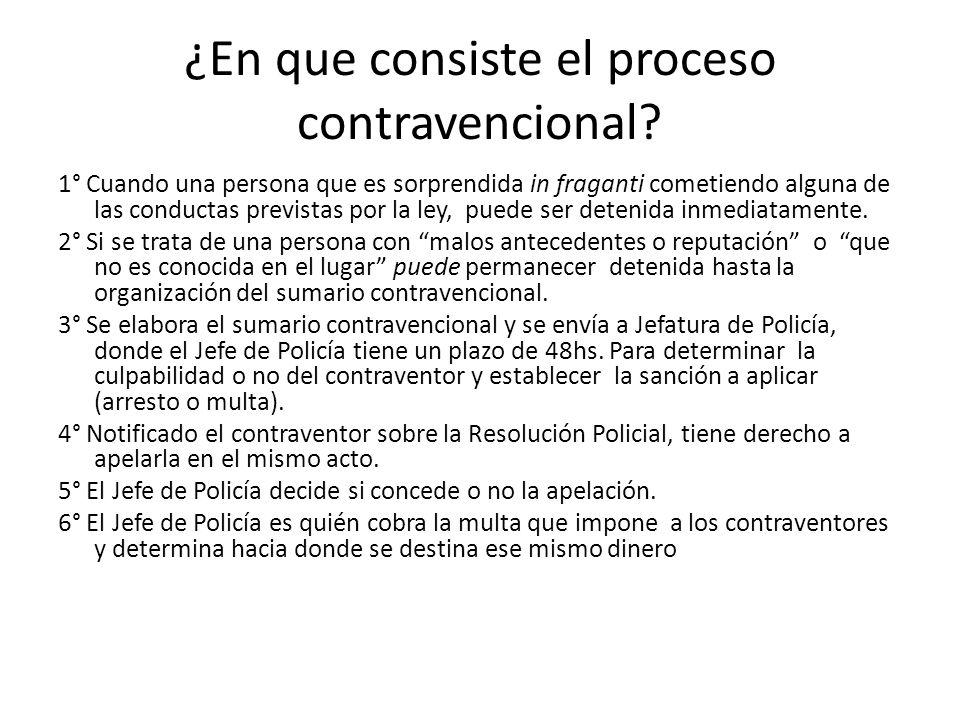 ¿En que consiste el proceso contravencional