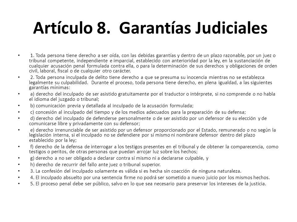 Artículo 8. Garantías Judiciales