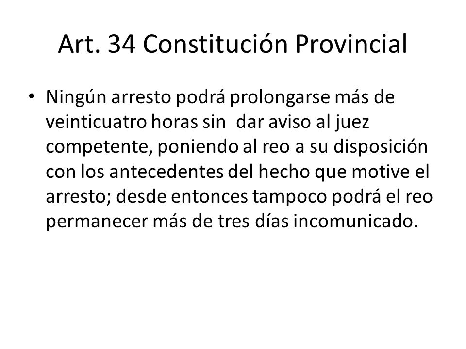 Art. 34 Constitución Provincial