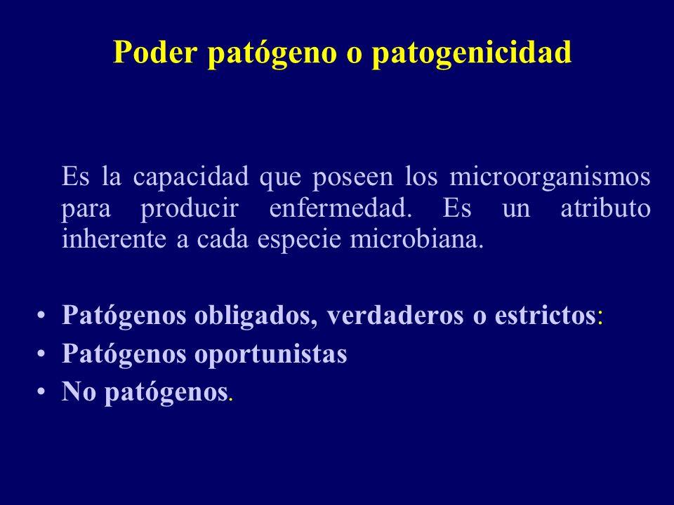 Poder patógeno o patogenicidad