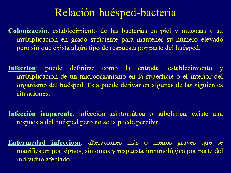 Relación huésped-bacteria