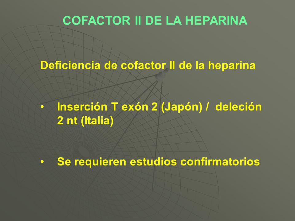COFACTOR II DE LA HEPARINA