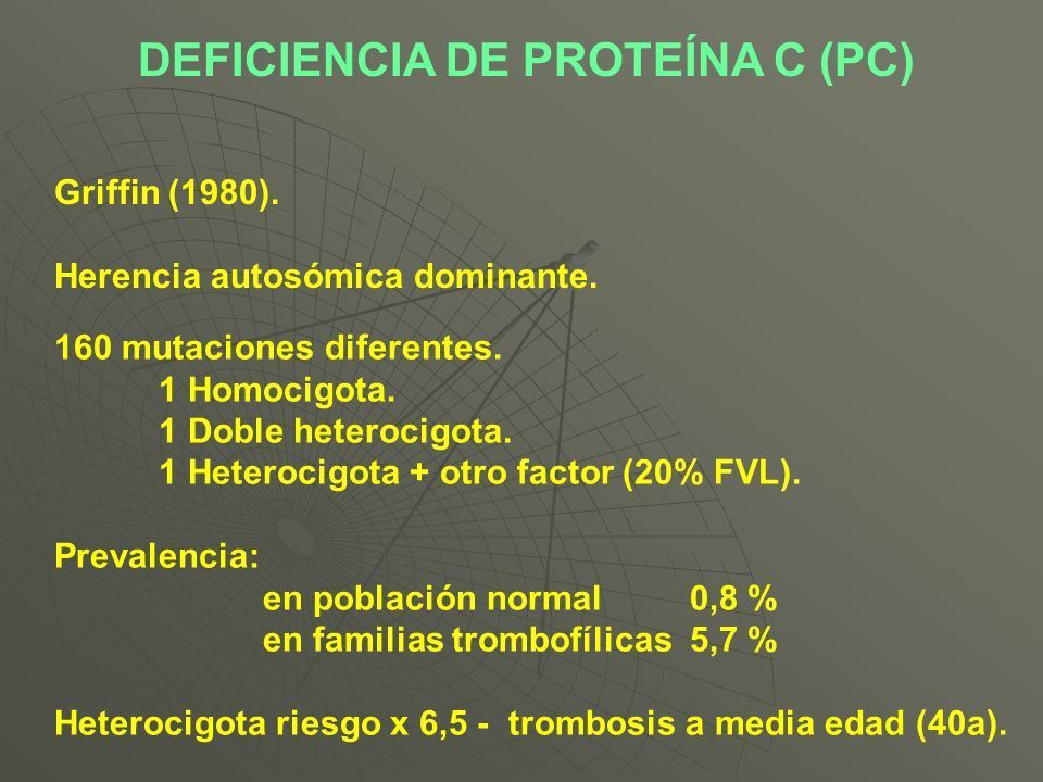 DEFICIENCIA DE PROTEÍNA C (PC)