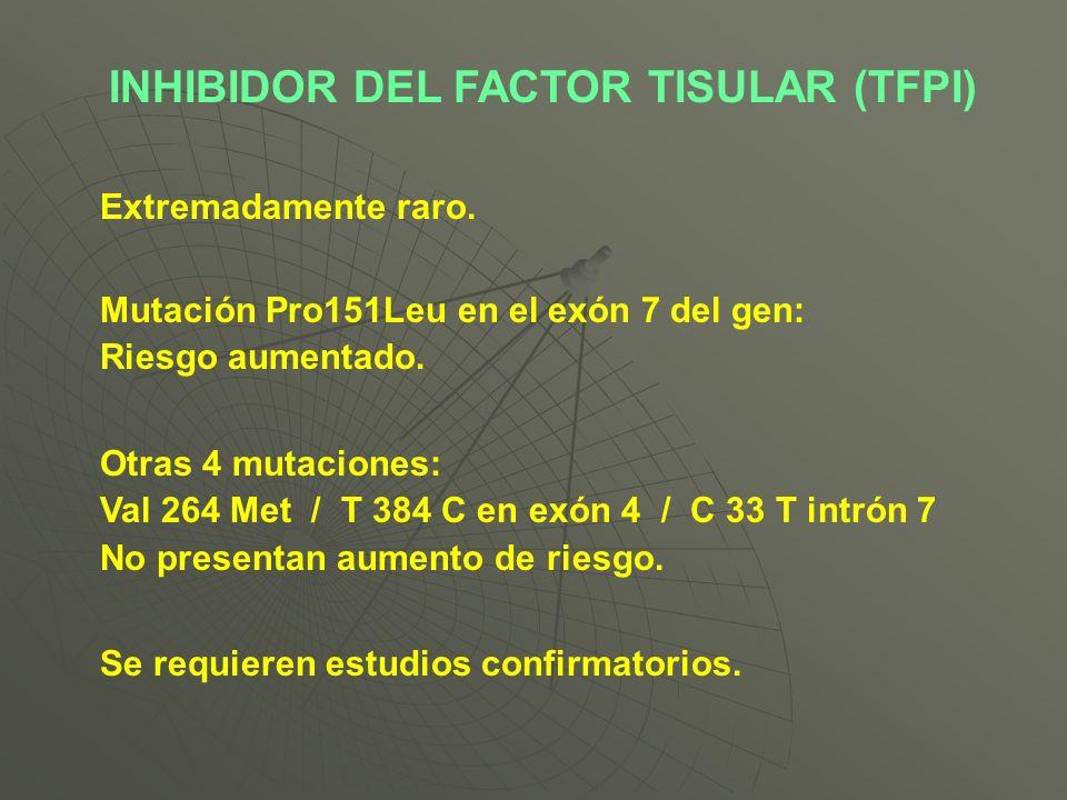 INHIBIDOR DEL FACTOR TISULAR (TFPI)