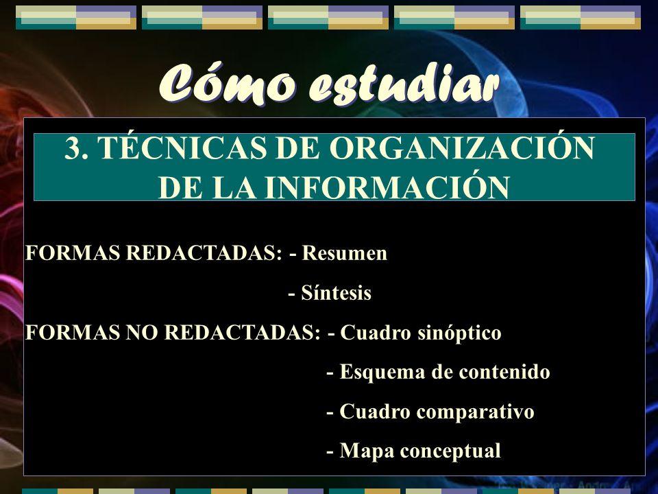 3. TÉCNICAS DE ORGANIZACIÓN