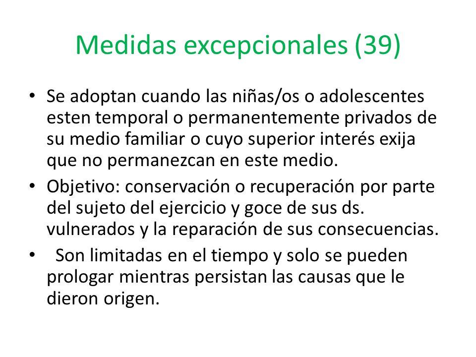 Medidas excepcionales (39)