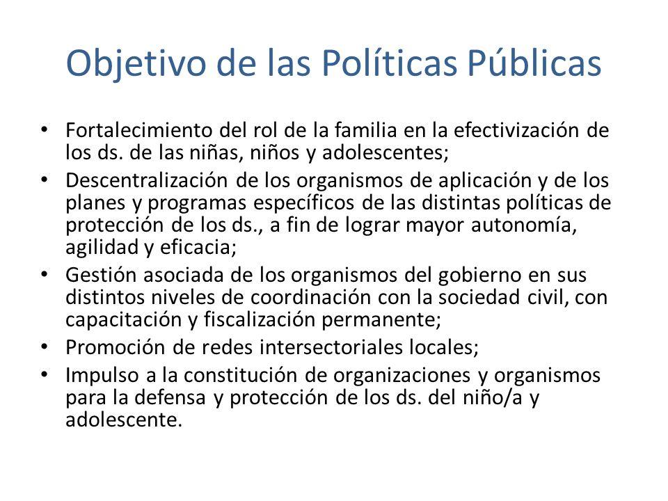 Objetivo de las Políticas Públicas
