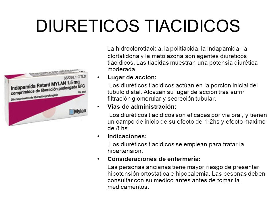 DIURETICOS TIACIDICOS