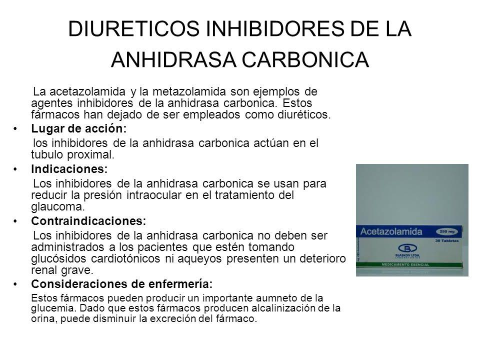 DIURETICOS INHIBIDORES DE LA ANHIDRASA CARBONICA