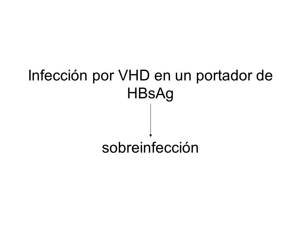 Infección por VHD en un portador de HBsAg sobreinfección