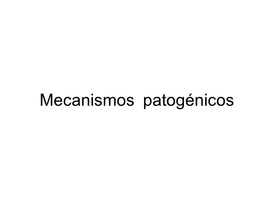 Mecanismos patogénicos