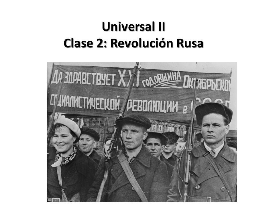 Clase 2: Revolución Rusa