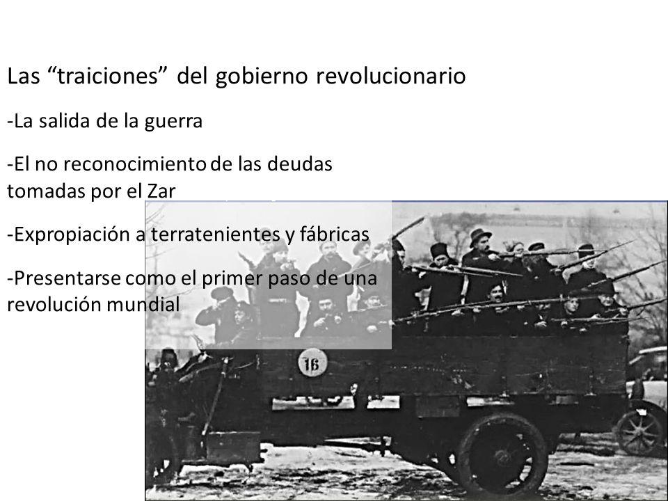 Las traiciones del gobierno revolucionario