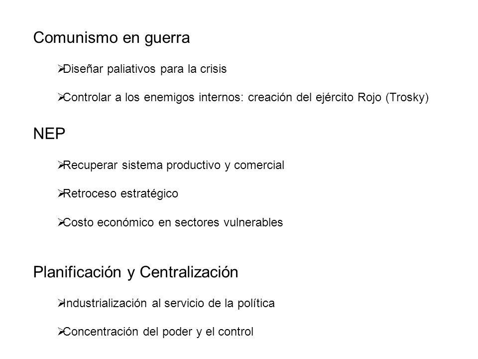 Planificación y Centralización