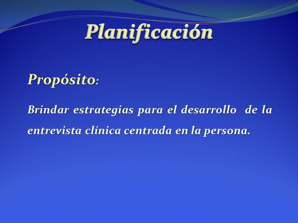 Planificación Propósito:
