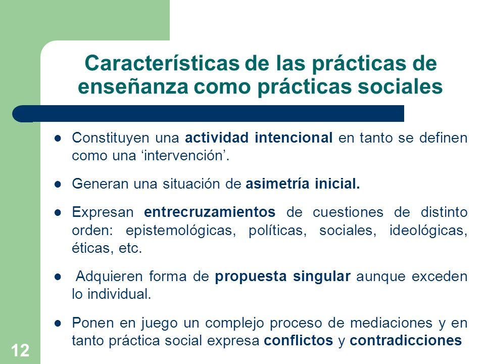 Características de las prácticas de enseñanza como prácticas sociales