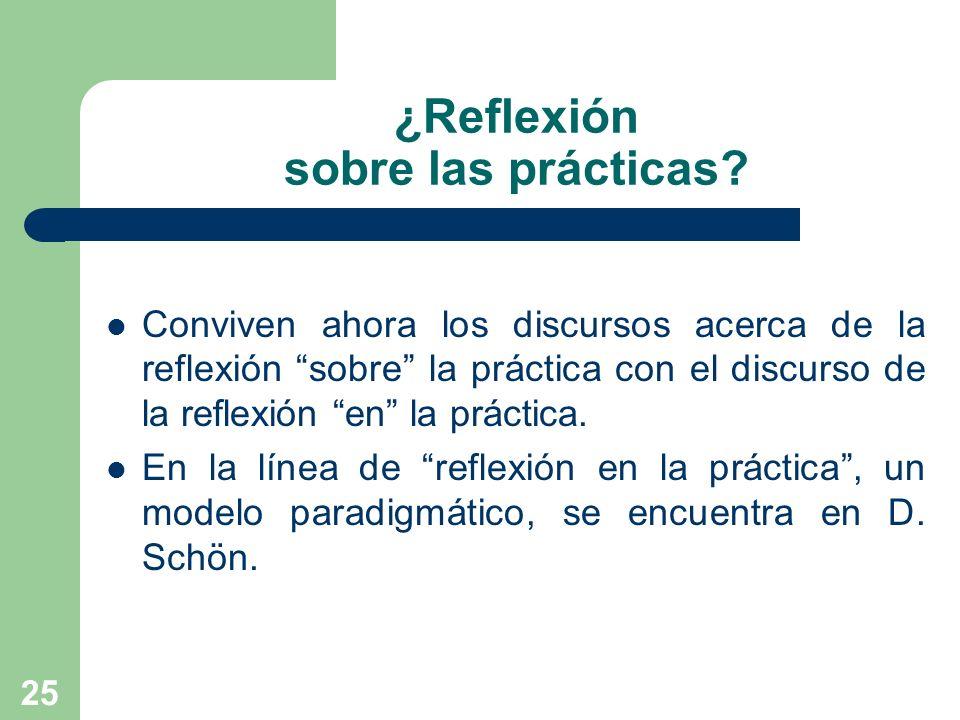 ¿Reflexión sobre las prácticas