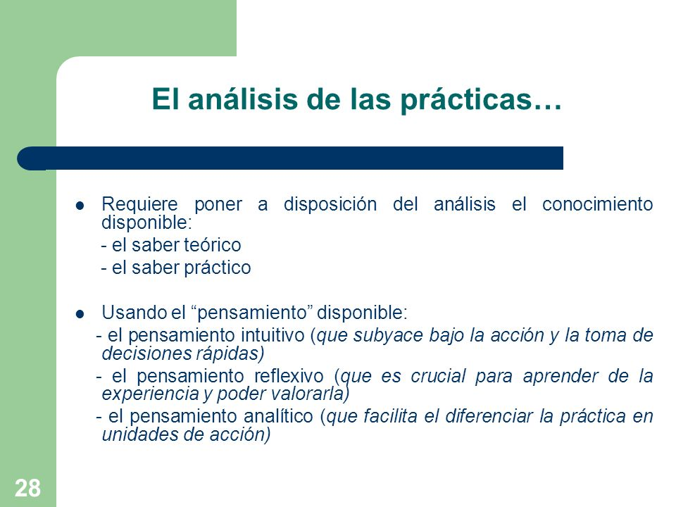 El análisis de las prácticas…