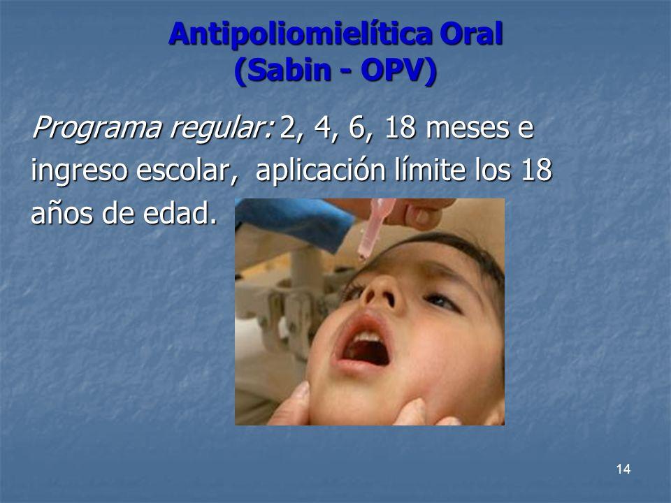 Antipoliomielítica Oral (Sabin - OPV)