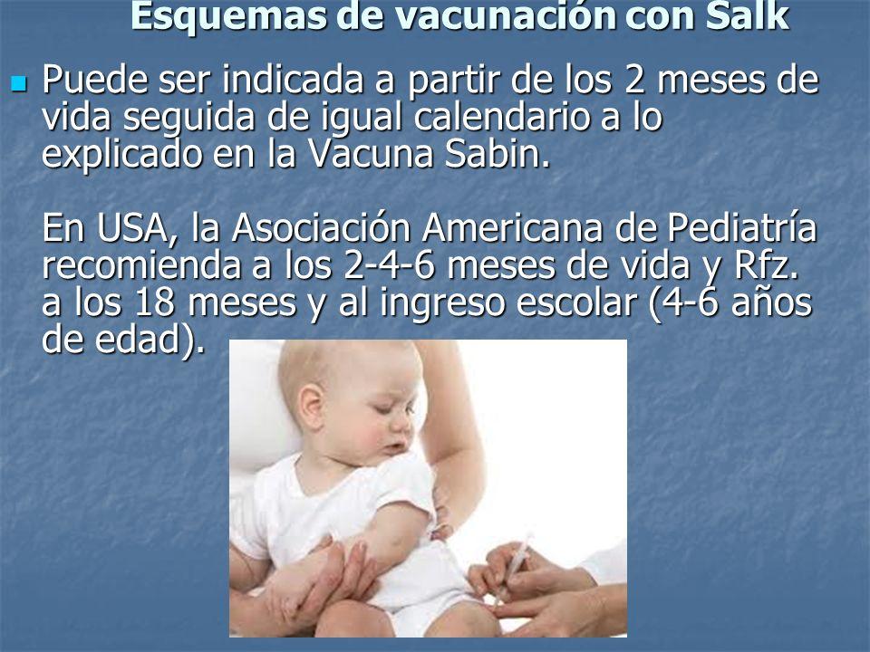 Esquemas de vacunación con Salk