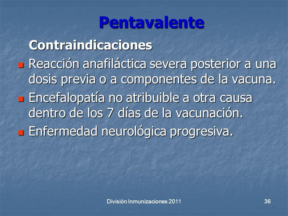 División Inmunizaciones 2011