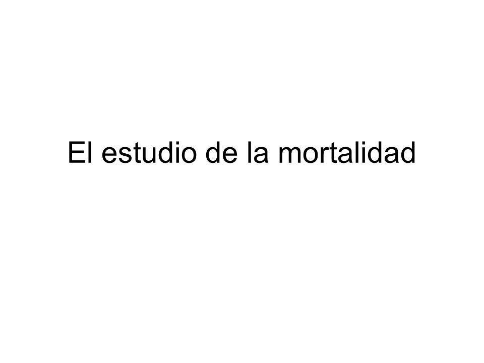 El estudio de la mortalidad