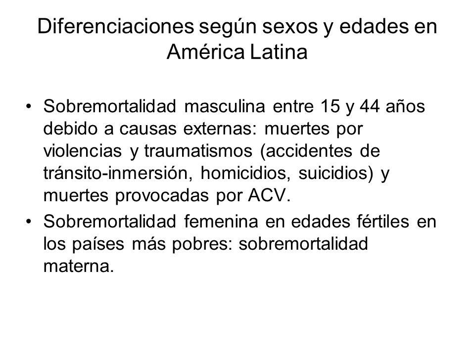 Diferenciaciones según sexos y edades en América Latina