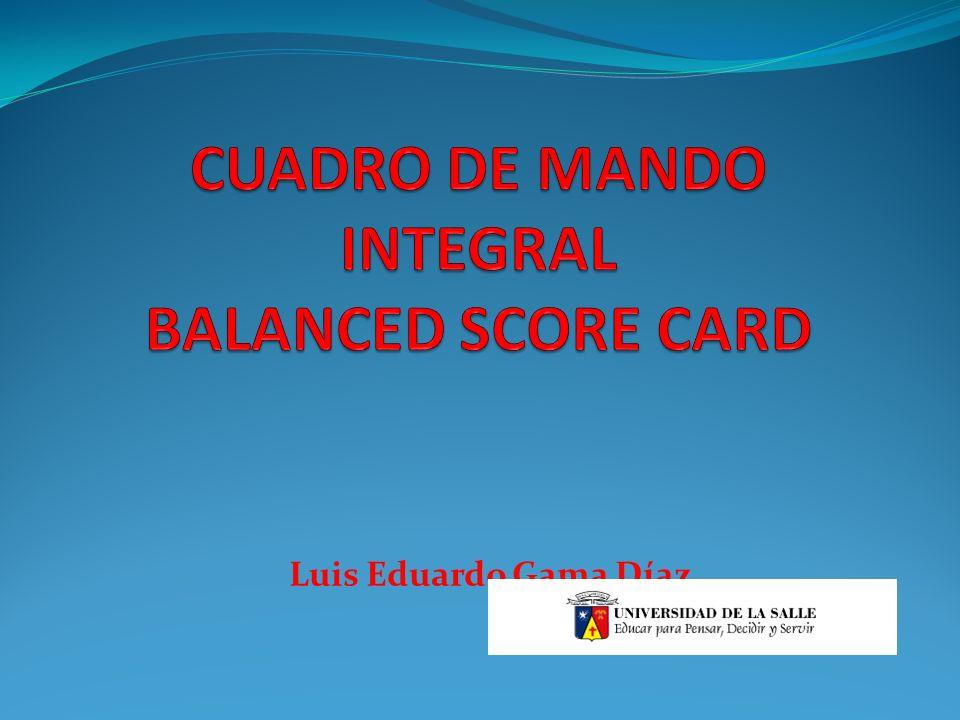 CUADRO DE MANDO INTEGRAL BALANCED SCORE CARD