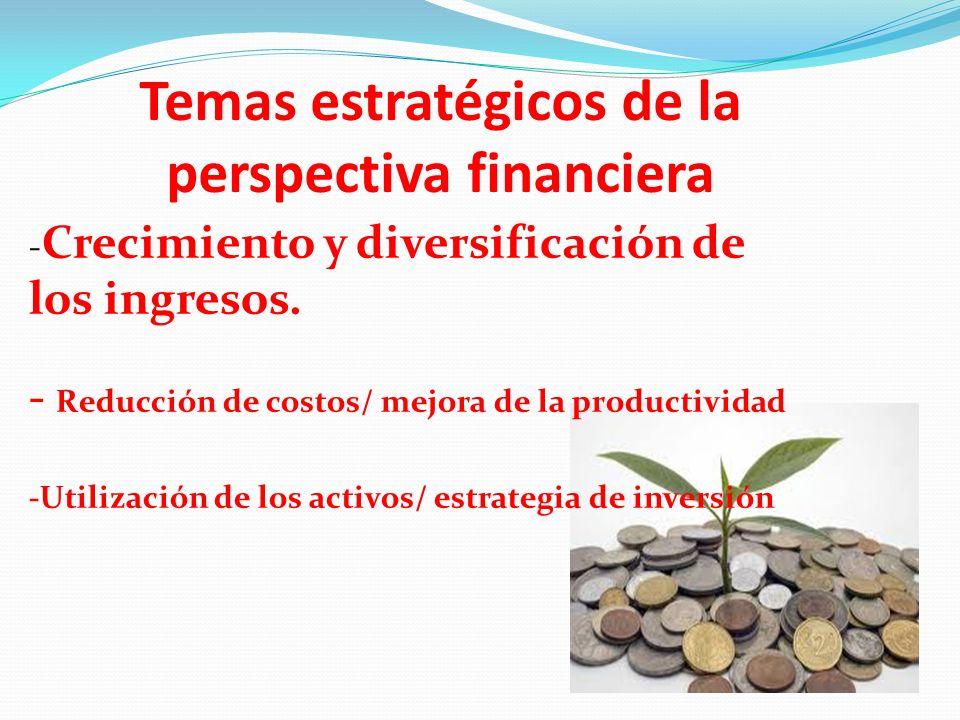 Temas estratégicos de la perspectiva financiera