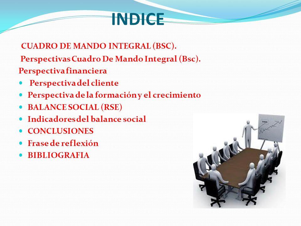INDICE CUADRO DE MANDO INTEGRAL (BSC).